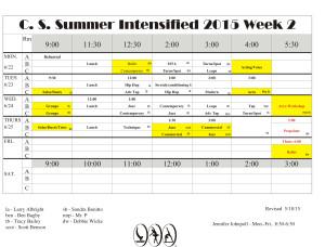 Summer Intensive Week 2