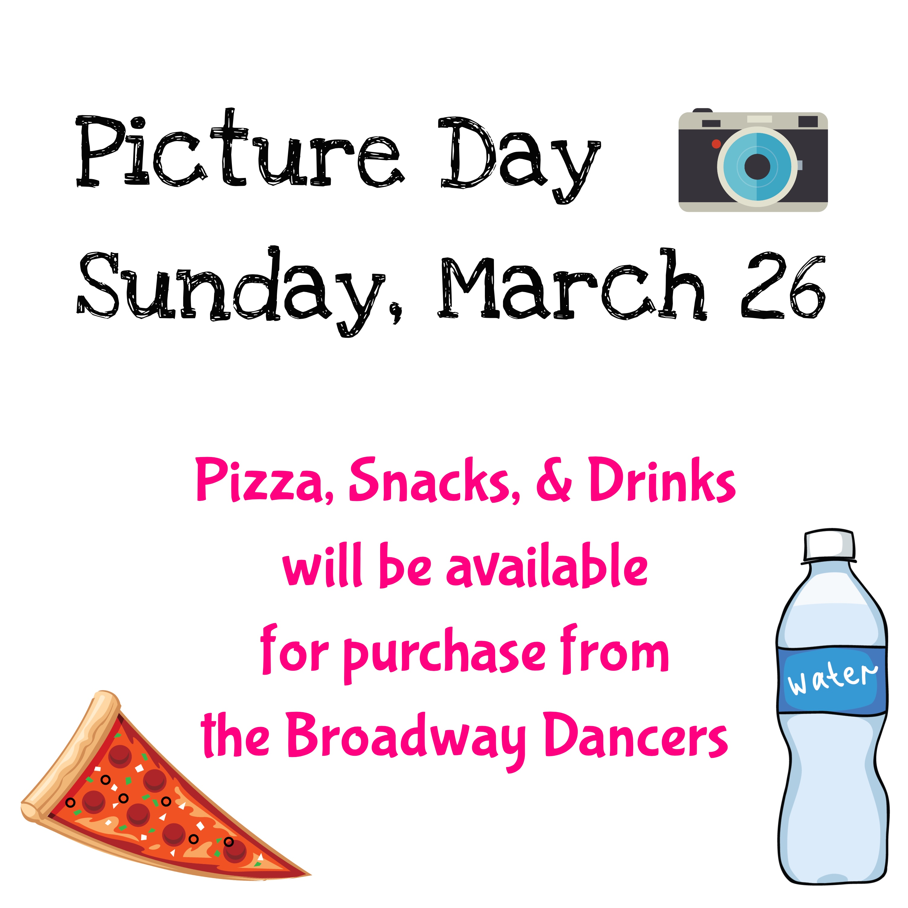 Picture Day - Sunday March 26