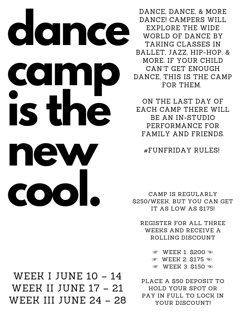 dance camp is the new cool.
