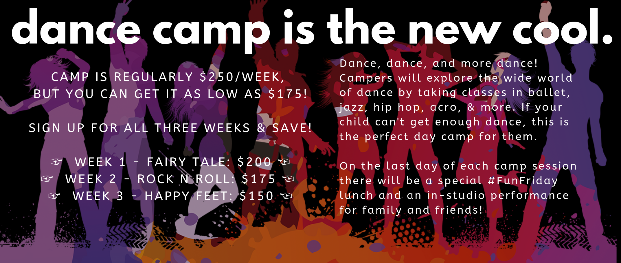 dance camp is the new cool